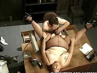 Fat Secretary Fucks Boss On Office Table