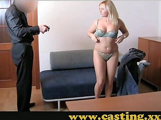 Casting Chubby blonde milf takes it in the ass