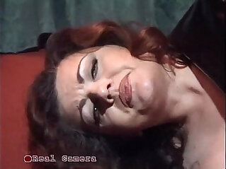 Jessica rizzo bangs a slave in the pillory with strap