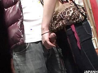 Voyeur catches a couple oral in a sex shop