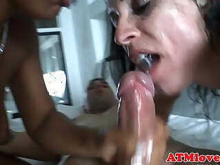Cum swallowing and facialized babes