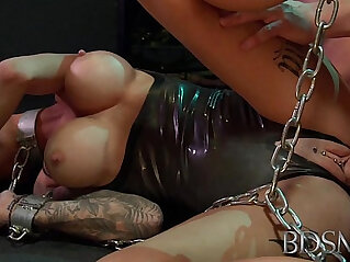 BDSM XXX Young sub gets so wet when chained up and dominated by her Master