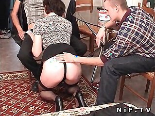 French fucked in threesome