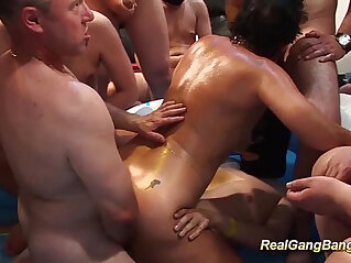 oiled mom ready for gangbang