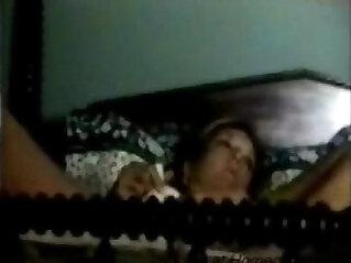 Hidden cam caught quick orgasm of my mom