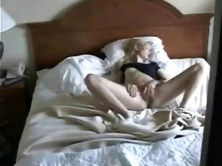 Cute mom masturbating caught by nasty son. Hidden cam