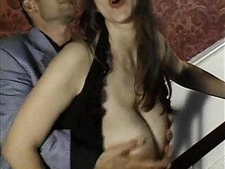 Brunette natural titties