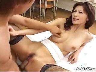 Hot Japanese babe is fucked mercilessly