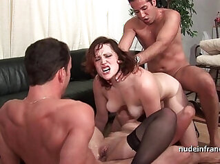 FFMM Two hotties hard deep anal and double penetration fucking in foursome orgy