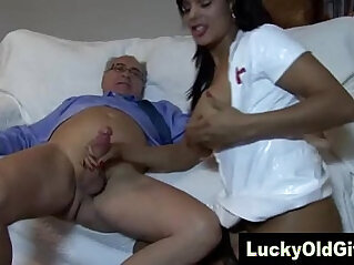 old man fucks girl in sexy outfit