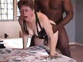 Lovely grandma fucked by black friend