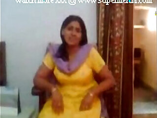 indian aunty her boobs to young lover