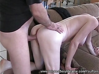 Double cock for slut nasty milf melanie
