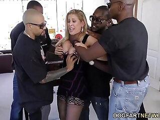 Cherie deville gets gangbanged by big black monster cocks