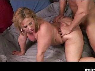 BBW mature takes hard anal pounding