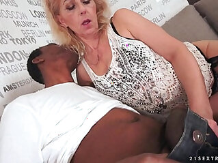 Lusty Grandma loves big black hard cock