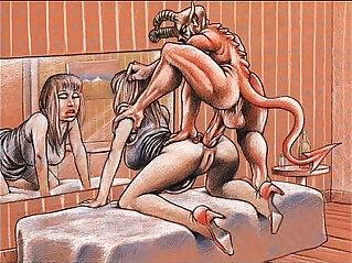 Giant black Cock Hard Sex Comics