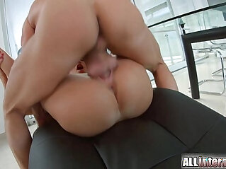 All Internal Brunette gets double vaginal creampie
