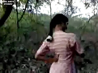 Indian desi girl sucking and fucking in forest