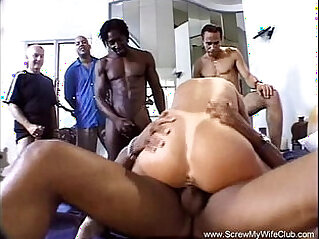 Interracial Threesome With BBC