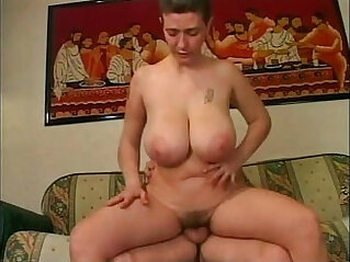 Mature amateur playing with big boobs having sex with her husband