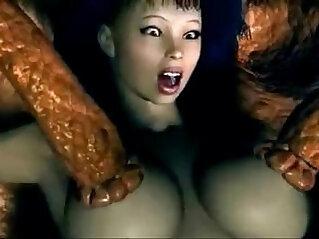 3D Monster Anime Sex