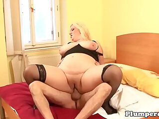 Obese plumper titfucking and cocksucking