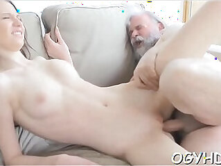 Old chap fucks young pussy