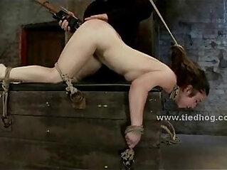 Sex slave bondage spanking and fucking
