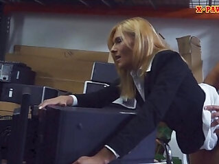 Hot MILF desperate for money gets fucked at the pawnshop