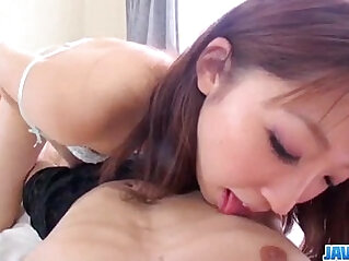 Ayumi Kisa gets her wet bush fucked until exhaustion