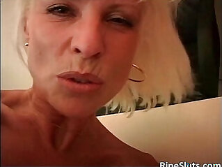 Blonde with curvy huge boobs gets fucked