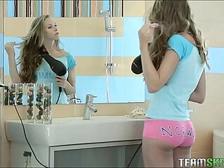 Super Hot Teen Goddess Gets licked and Fucked In The Bathroom