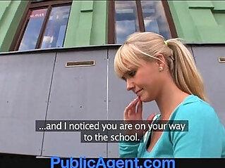 PublicAgent Beautiful blonde babe fucks me in my car