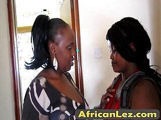African lesbian gets naughty in bathroom