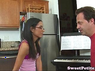 Amateur teen fucks her piano teacher