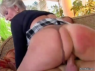 Busty mature loves cock