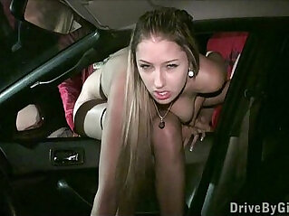 Hot porn star Kitty Jane fucked deep and hard in PUBLIC by random strangers
