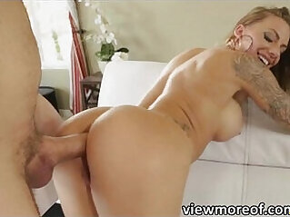 Naughty Juelz Ventura strips off and gets doggystyle fucked hard