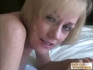 Nasty ass horny granny gets fucked by young dude