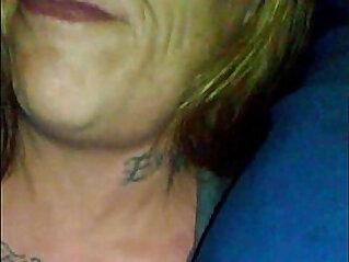 showed mature tattooed biker bitch that is Black Dicks Matter shot cum in her mouth