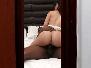 watching hot interracial cheating wife home alone