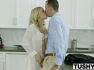 TUSHY Bosses Wife Karla Kush First ever Anal With the Office Assistant