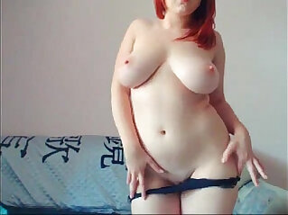 Curvy Foxy Arousingly Touches Her Body and Plays