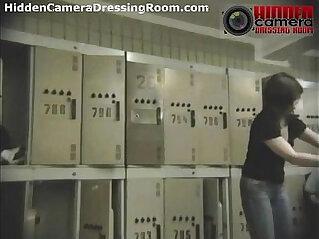 Hot girls naked in locker room!