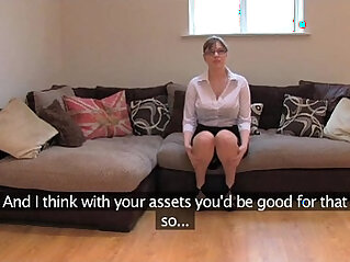 FakeAgentUK Amateur British girl with black huge round tits gets multiple orgasms