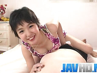 Sakura Aida amazes with her juicy lips in blowjob show
