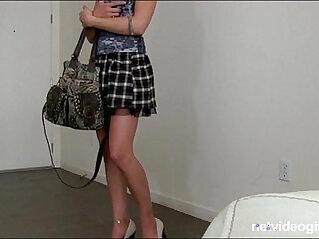 Blonde teen amateur with mile long legs begs