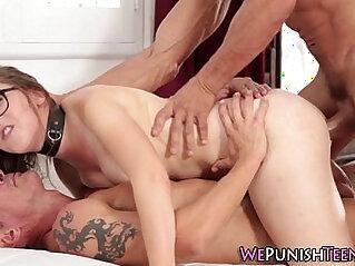 Teen cutie gets double cocked