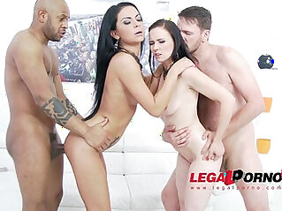 Joanna Black Inga Devil anal DP 4some for Legal Porn